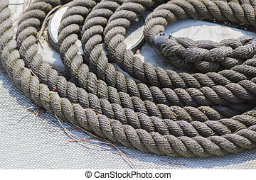 old rope on boat