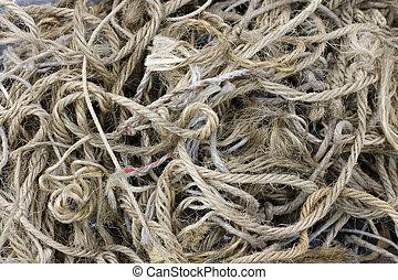 Old rope  - Photo of hemp old rope
