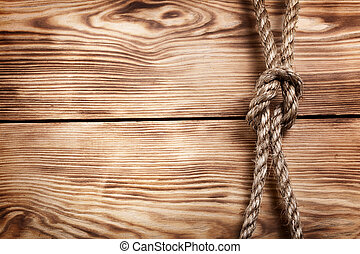 old rope on wooden boards for your design