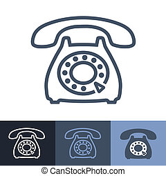 Old Rotary Phone Outline Icon