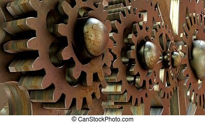 Old rotating gears