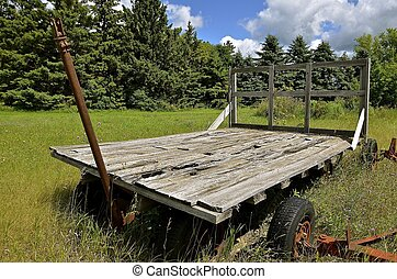 Old rotten hay rack - A rotting floor of an old rack was...