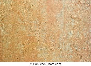 Old rough orange wall