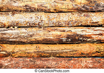 Old rough wooden boards with cracks as background