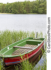 Old Rowboat on a lake in East Germany