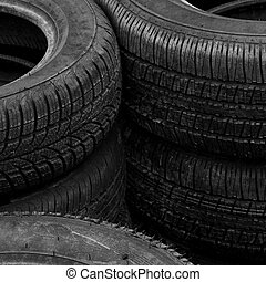 Old rubber tires