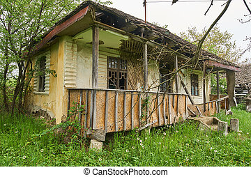 Old ruined house - A very old and ruined house in the...