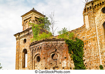 Old ruined synagogue building in Vidin, Bulgaria