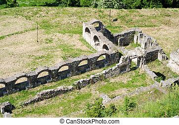 Old ruins in Kalemegdan fortress in Belgrade. Serbia
