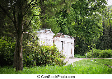 ruins in the Alexandria Park