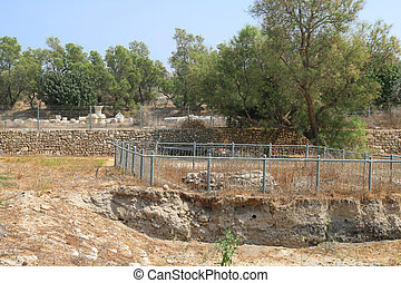 Old ruins in the park, Ashkelon, Israel