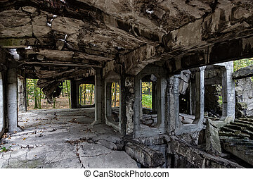 Old ruins interior - Image of the interior old destroyed...