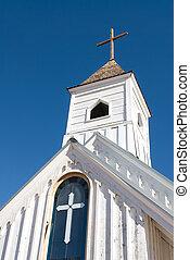 Old Rural Church Steeple