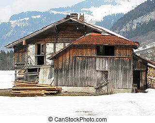 Old rural house in Engelberg, Switzerland