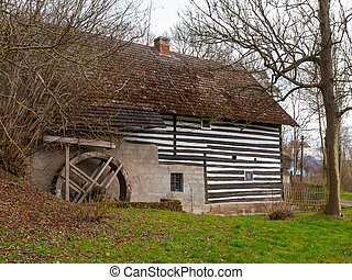 Old rural watermill