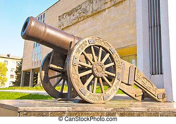 Old Russian cannon «Licorne»