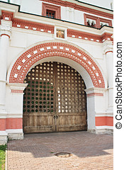Old Russian gates in Kolomenskoye - Moscow Russia