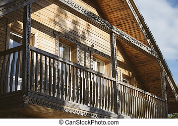 Old Russian house in the village.