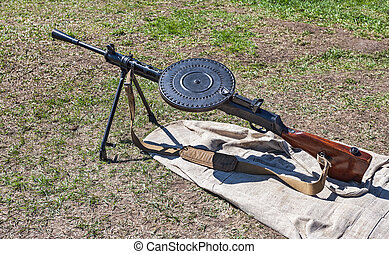 Old russian machine gun