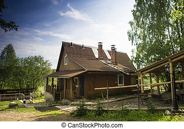 old russian vintage house