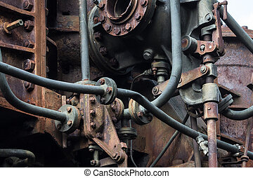 old rusted machine. rusty metal