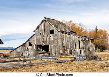 Old rustic barn in the country