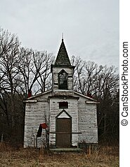 Old rustic church - portrait view