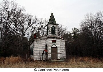 Old rustic country church-landscape - beautiful old, rustic,...