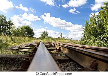 Old Rustic Railroad Track
