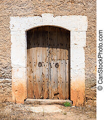 Old Rustic Wooden Entrance (1)
