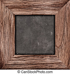 Old rustic wooden frame