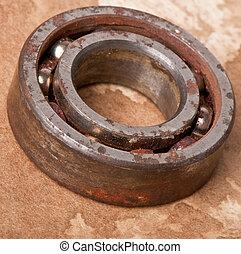 old rusty bearing