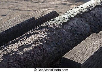 old rusty cannon