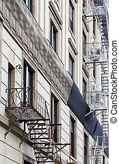 Old Rusty Fire Escapes