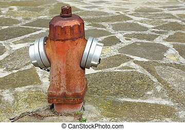 Old Rusty Fire Hydrant