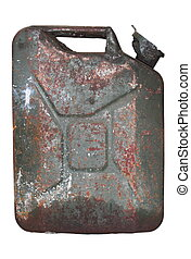 rusty gasoline canister - old rusty gasoline canister...