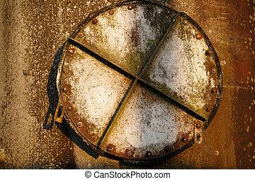 Old rusty hatch