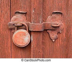 Old, rusty lock