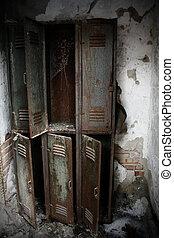 rusty lockers