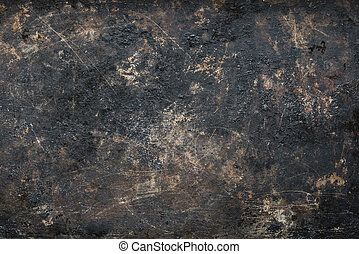 Old rusty metal cookie sheet background