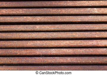 old rusty metal grate