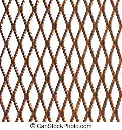 Old rusty metal lattice