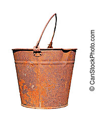 old rusty pail