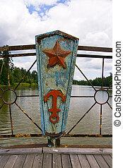 rusty part of bridge