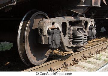 Old rusty railway wheels