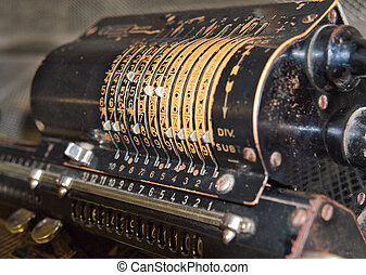 Old rusty retro calculator