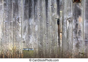 Old rusty Scheunentor (Barn door) - Background photo of old...