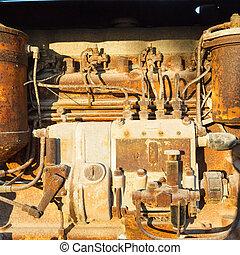 vintage diesel engine parts
