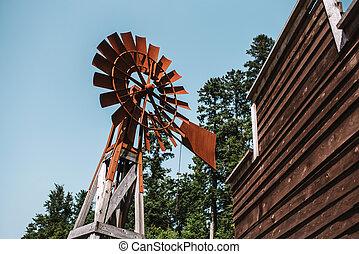 Old rusty windmill