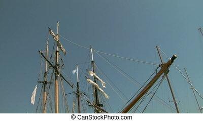 old sail mast 04 - Mast of old sailing ship